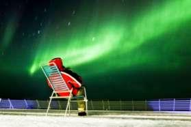Sitting and admiring the aurora on Hurtigruten