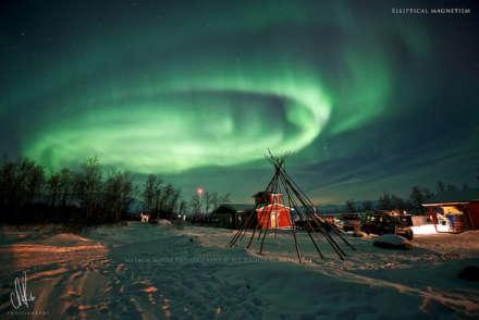 Northern Lights above Abisko Mountain Lodge