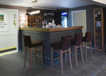 The bar at Abisko Mountain Lodge