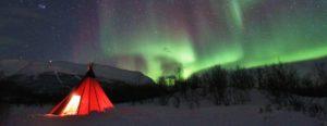 New Year Northern Lights in Abisko