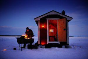 Dinner on ice at Brandon Lodge