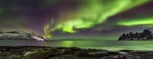 Northern Lights over Norwegian Sea