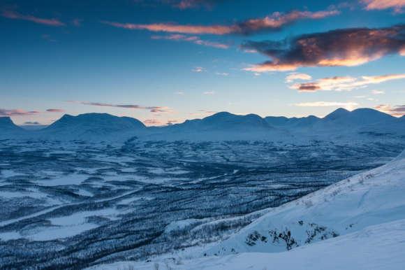 Stunning winter scenery at Aurora Sky Station in Abisko