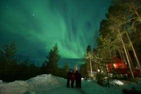 Northern Lights near the Tree Hotel, Abisko