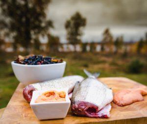 Food prep at Moose Valley Cabins