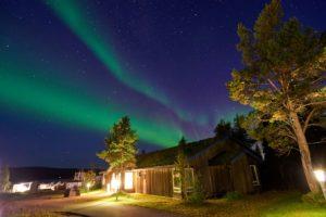Northern Lights over Nordic Chalets Ice Hotel Sweden. Copyright Graeme Richardson