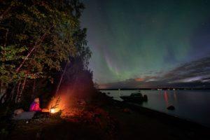 Northern Lights Lulea Archipelago Sweden - Copyright Greame Richadson