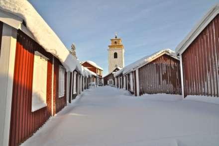 Gammelstad Church and wooden houses Lulea Sweden
