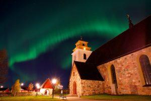 Old church Gammelstad Lulea Sweden. Copyright-Graeme-Richardson
