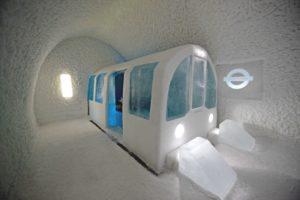 Mind the gap art suite at the Original ICEHOTEL in Jukkasjarvi Sweden