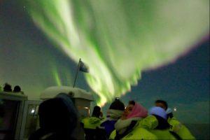 Aurora Borealis Solar storm, Reykjavik Iceland