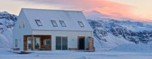 Eyjafjallajokull wilderness cabin in Iceland