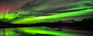 Northern Lights over Laporten in Abisko Sweden