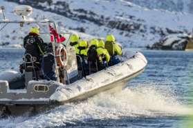 RIBB ride in Lofoten, Norway