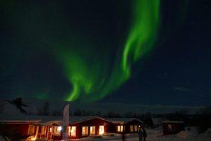 Northern Lights over Abisko Mountain Lodge