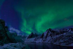 Aurora over Norwegian Fjords Copyright Vidar Moloekken