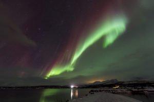 northern lights Abisko Sweden in the Autumn