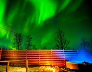 Northern Lights at Arctic Gourmet Cabins Sweden
