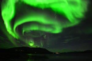 Intense Northern Lights in Abisko