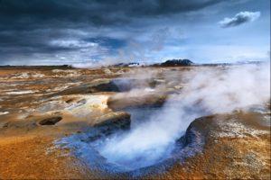 Hverir caldera mud pools, North Iceland
