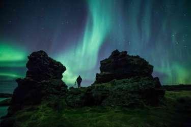 Northern Lights at Dimmuborgir, North Iceland