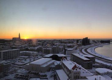 View from FossHotel Reykjavik, Iceland