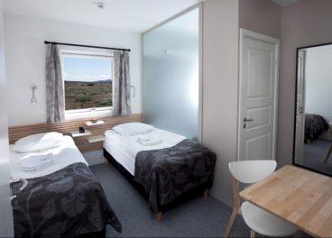 Standard room at the Highland Centre, Hrauneyjar, Iceland