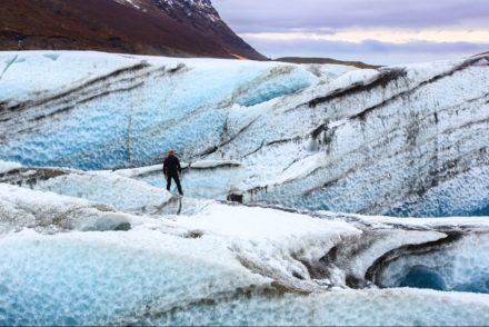 Hiking on the glacier, Iceland