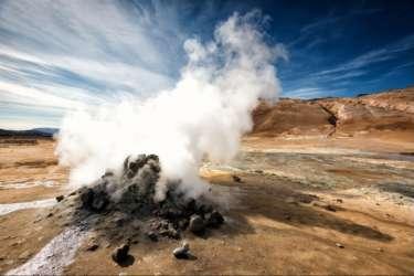 Steam vent at Hverir, North Iceland