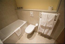 Bathroom in Sel Hotel, Myvatn, Iceland