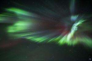 Northern Lights burst, Iceland