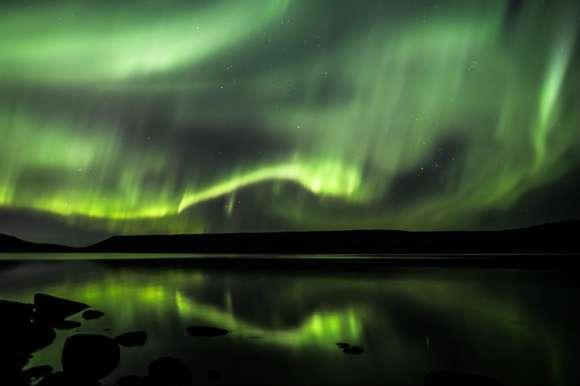 Aurora Borealis in Iceland on the Superjeep Northern Lights Hunt