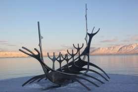 Sculpture in Reykjavik, Iceland