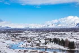 Thingvellir rift valley in Iceland