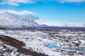 Winter view of Thingvellir, Iceland
