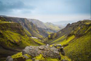 Looking down Thorsmork Valley, Iceland