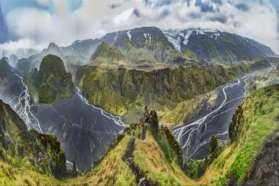 Stunning vista of Thorsmork on SuperJeep tour, Iceland