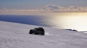 Sunrise on the way up the Eyjafjallajokull Volcano, Iceland