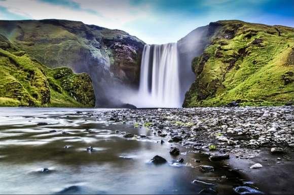Behind Seljalandsfoss Waterfall, Iceland