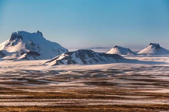 Winter highlands landscape, Iceland