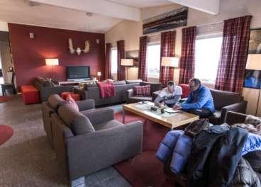 Lounge area at Abisko Mountain Lodge