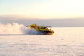 Hovercrafting near Pine Bay Lodge