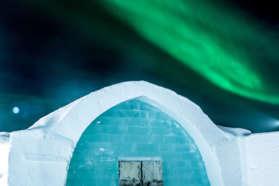 Aurora above the IceHotel Copyright asaf-kliger