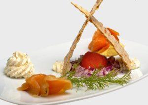 Beautiful cuisine in Abisko