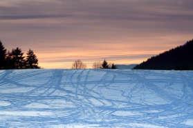 Ski trails in Sweden