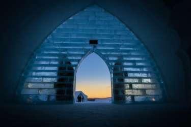 IceHotel doorway, Sweden