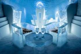 Enjoy a drink at the IceHotel bar, Sweden