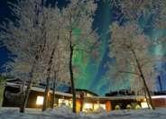 Northern Lights above Mattarahkka Lodge, Sweden