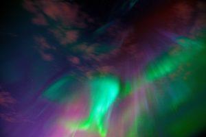 Multicoloured Northern Lights in Abisko
