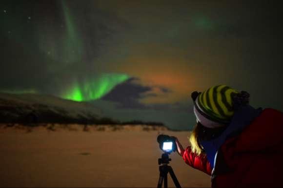 Camera set for capturing the Lights, Sweden